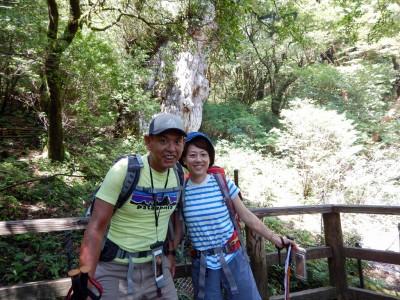 縄文杉で記念撮影!