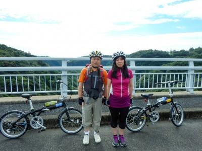 サイクリングツアー松峰大橋にて
