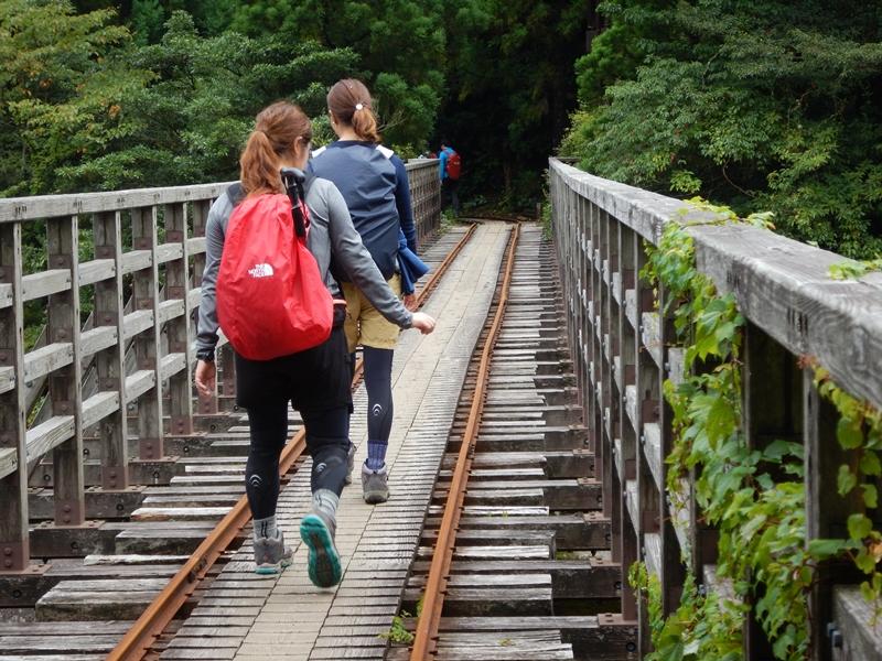 トロッコ道の鉄橋 小杉谷橋