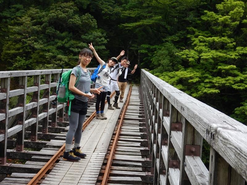 小杉谷橋にて