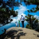 夏の空白谷太鼓岩