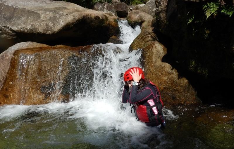 沢登り&カヤック 水浴びをするところです。