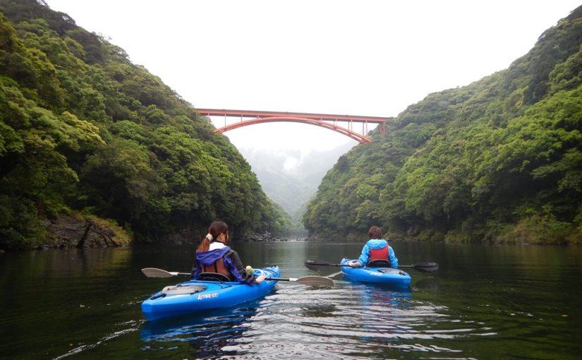 白谷雲水峡とカヤックツアー