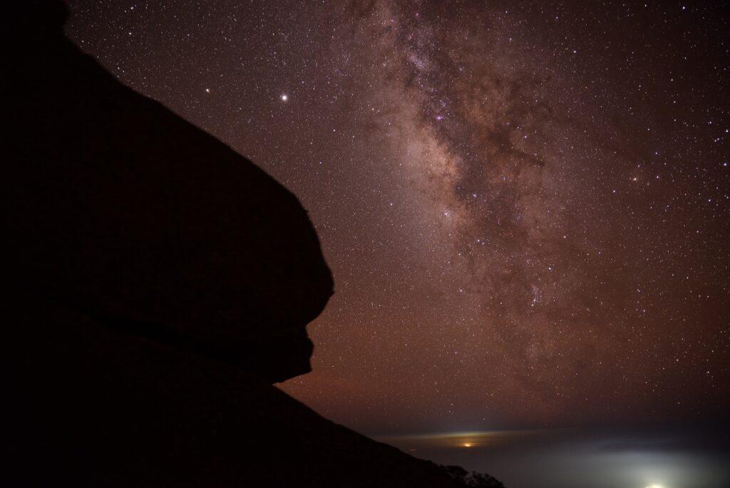 屋久島夏の夜天の川